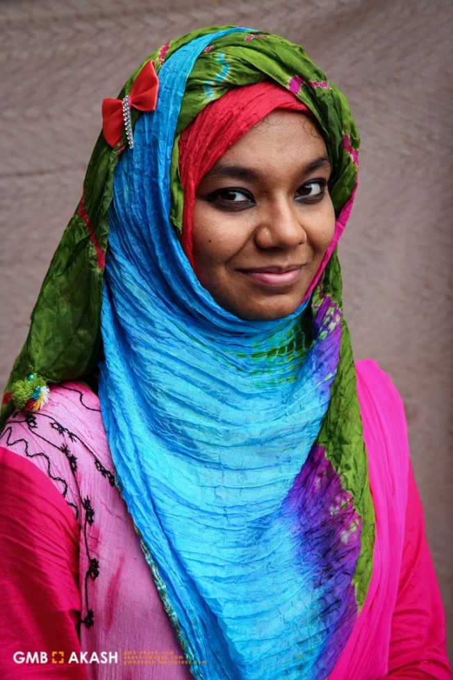 'When I started hijab I wasn't sure I could continue it or not. In summer time it is very hot in Bangladesh and traveling by bus become very hard for the weather. In the beginning it was very difficult but I have seen respect for me in eyes of people as a hijabi girl. I will continue to wear hijab' – Adiba