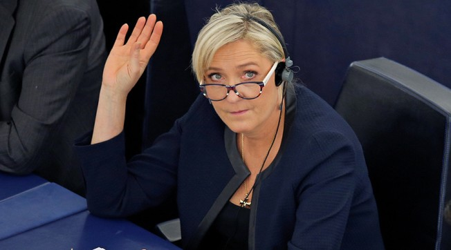 Marine Le Pen, French National Front (FN) political party leader and Member of the European Parliament © Vincent Kessler