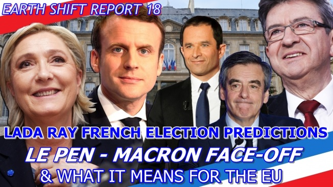 BANNER French election Le Pen Macron