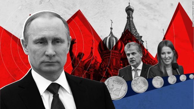 Russian elections 2018 Putin Sobchak Gruninin lrge