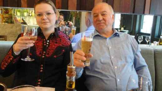 Sergey Skripal UK spy poisoning scandal with daugher Yulia