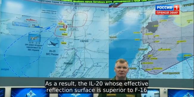 Russian Il-20 shot down Syria Israel