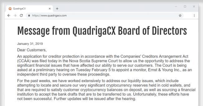 quadrigacx cryptocurrency exchange